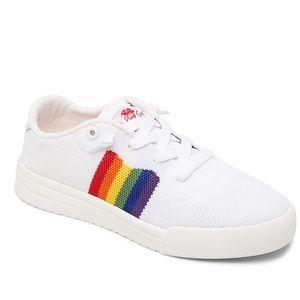Roxy knit rainbow sneakers